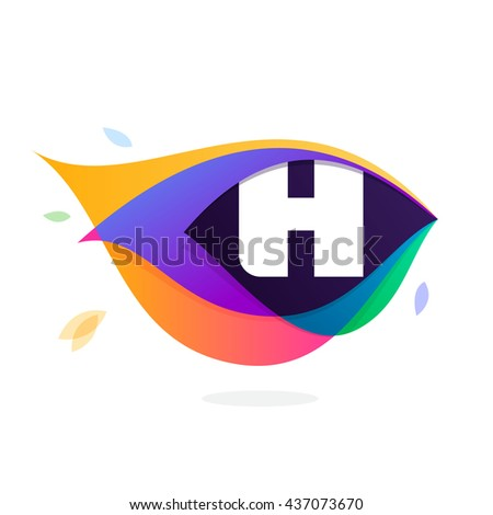 letter h logo in peacock