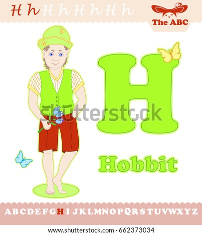 letter h with hobbit for abc
