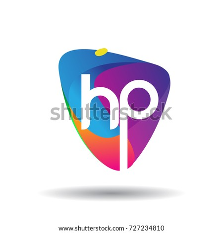 letter hp logo with colorful