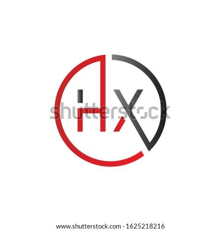 letter HX Logo Design Vector Template. Initial Linked Letter Design HX Vector Illustration Stock photo ©