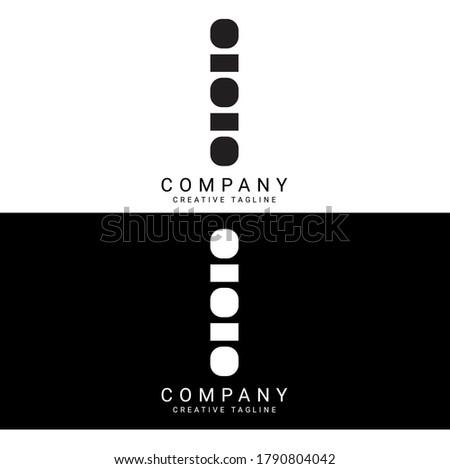 letter i ii logo icon design