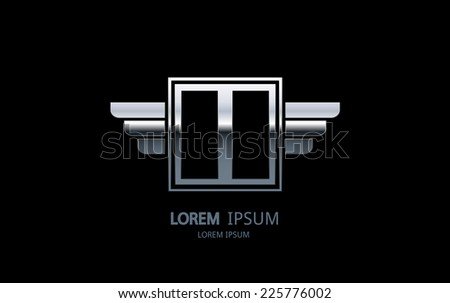 letter i logo alphabet