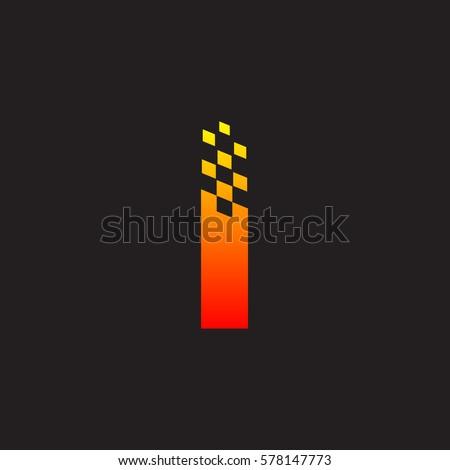 letter i logo  fast speed