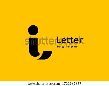 letter i logo icon design