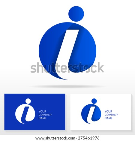 Letter I logo icon design template elements .Vector sign. Business card templates.