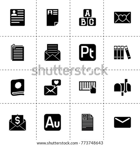 letter icons vector collection