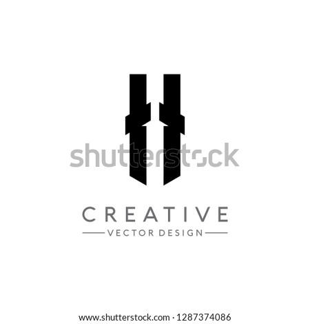 letter ii logo initial letter