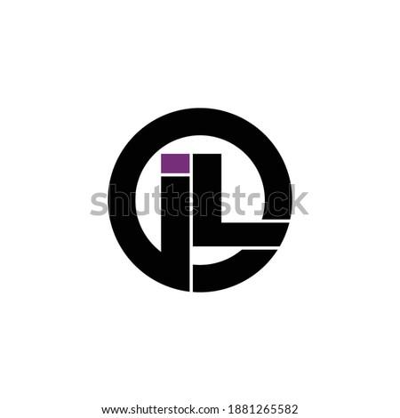 Letter IL circle logo design vector Foto d'archivio ©