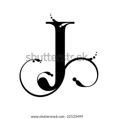 stock vector : Letter J