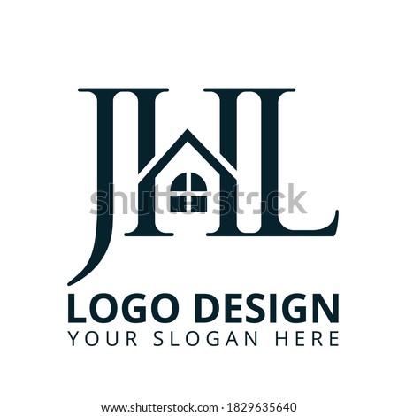 Letter J H L Real Estate Logo  Stock fotó ©