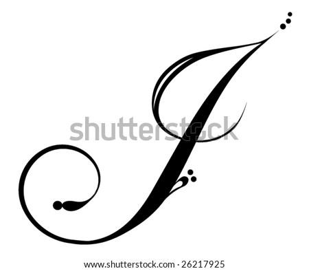 stock vector : Letter J - Script
