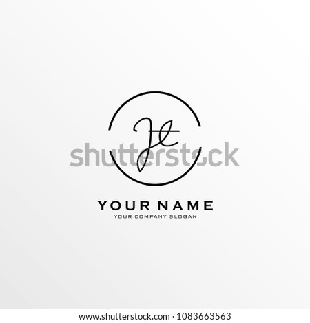 letter j t logo icon design