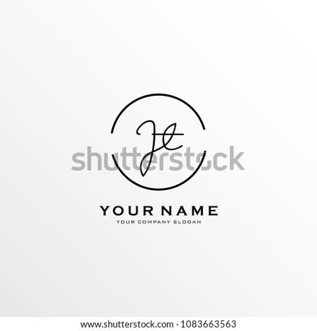 letter j t logo icon design