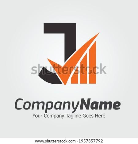 Letter J vector logo template, Colorful Letter J logo, Financial Company Logo, Financial Institute Advisors Logo Design Template Vector Icon