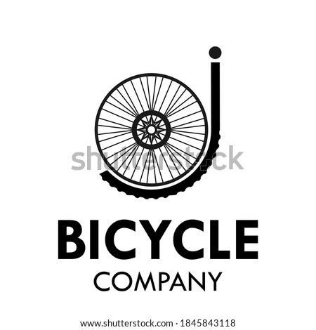 Letter j with bicycle wheel logo template illustration. suiatble for bicycle business Zdjęcia stock ©