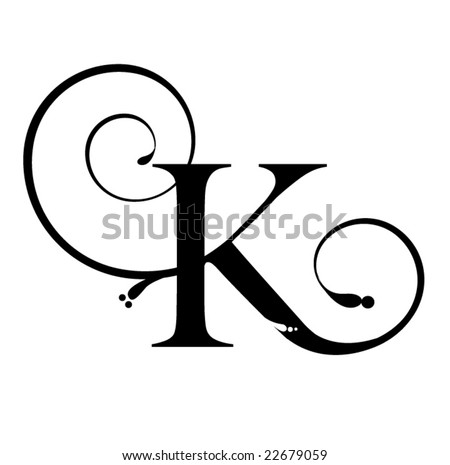 Stock Vector on Letter K Stock Vector 22679059   Shutterstock