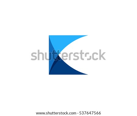 abstract letter K logo design template - Download Free Vector Art ...