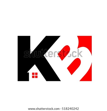letter K and B logo vector