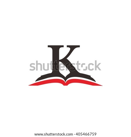 letter k book education logo