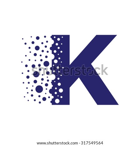letter k bubbles vector