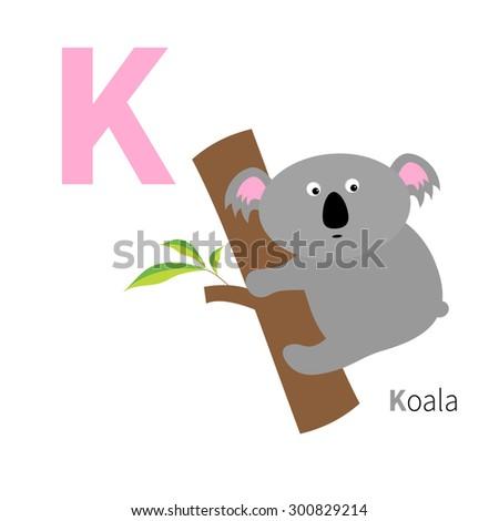 letter k koala zoo alphabet