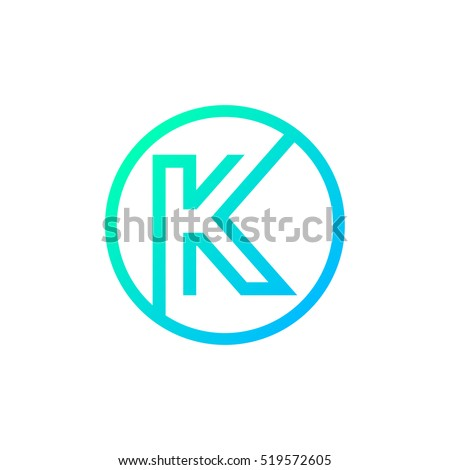 letter k logo circle shape