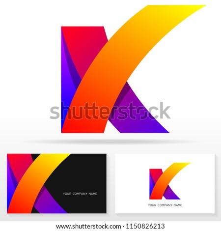 Letter K logo icon design template. Business card templates. Vector illustration.