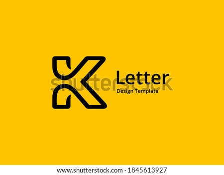 Letter K logo icon design template elements Stok fotoğraf ©