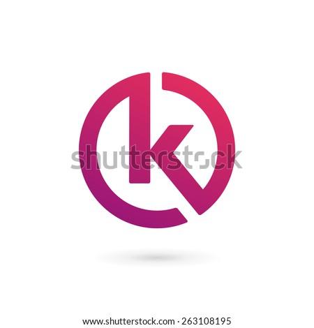 Letter K logo icon design template elements Stock fotó ©