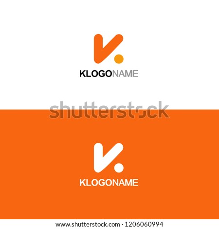 Letter K Logo Icon Vector Template  Stock fotó ©
