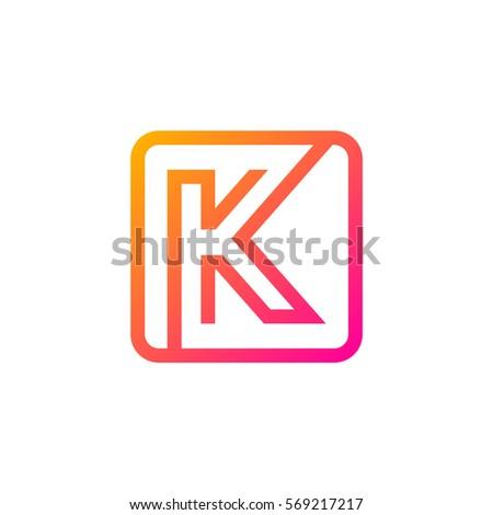 letter k logo rounded rectangle