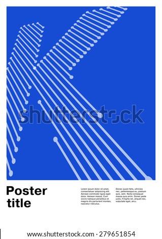 letter k on swiss poster