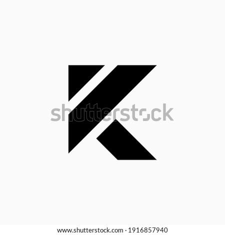 letter K simple logo. Icon design Stok fotoğraf ©