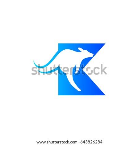 letter k with kangaroo