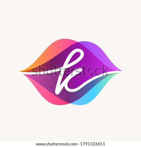 Letter K with transparency sound waves logo design concept. Vector icon perfect to use in any audio electronic labels, music posters, dj identity, etc. Stock fotó ©