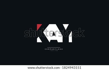 Letter KAY Business Logo Design Alphabet Icon Vector Monogram Stok fotoğraf ©