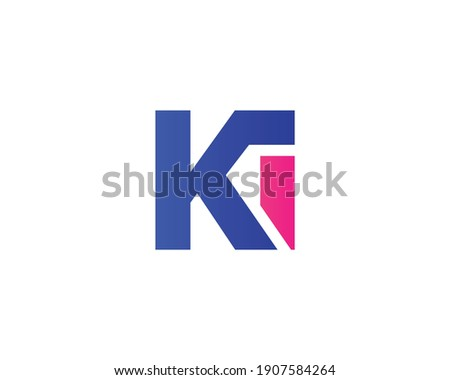 Letter ki ik logo design vector template Stock fotó ©