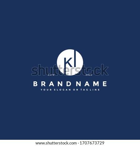Letter KI Logo design vector template Stock fotó ©