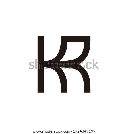 letter kr simple geometric lines art design symbol logo vector Stock fotó ©