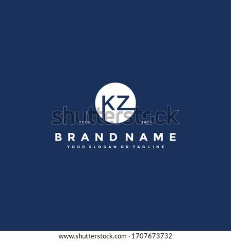 Letter KZ Logo design vector template Stok fotoğraf ©