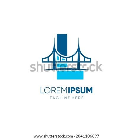 Letter L Bridge Logo Design Vector Icon Graphic Emblem Illustration Photo stock ©