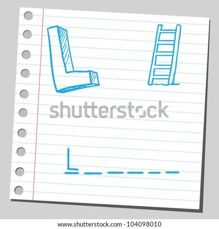 Letter L for ladder