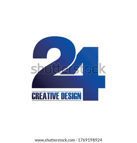 letter 24 logo icon design