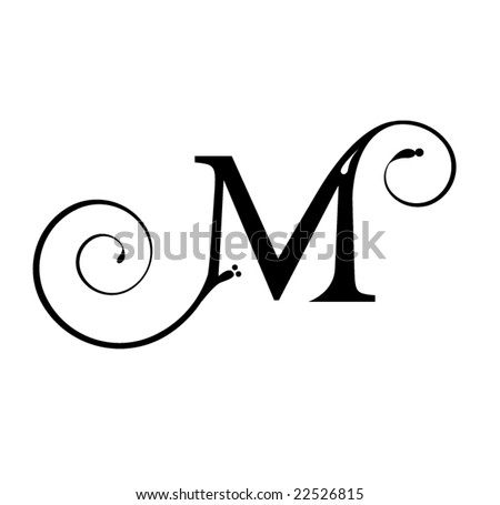 Tatto on Letter M Stock Vector 22526815   Shutterstock