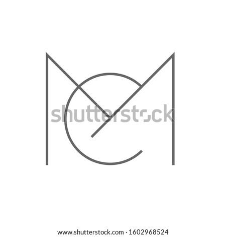 letter M C logo design vector template sign icon Zdjęcia stock ©