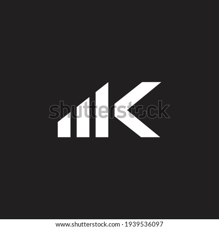 letter m k simple mobile phone signal techno logo vector Zdjęcia stock ©