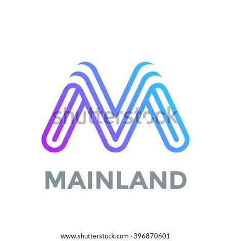 6e795553f2e Creative Letter M Logo design vector… Stock Photo 424410724 - Avopix.com