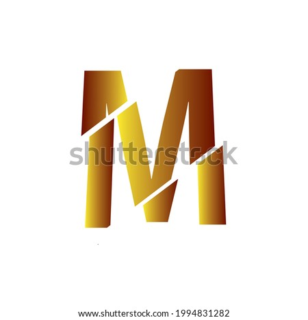 Letter M Logo High Res Stock Image , Vector Illustration  Stock fotó ©