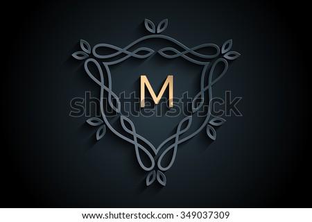 letter m logo  monogram logo