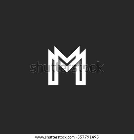 letter m logo monogram